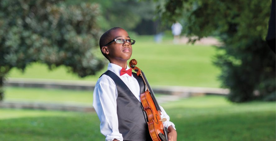Community Music School student