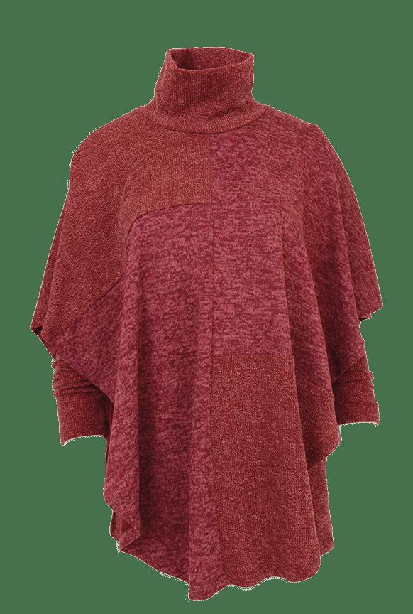 Pure Essence sweater cape tunic