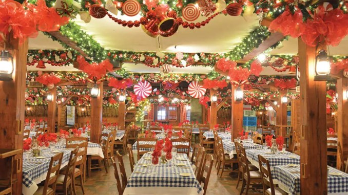 augus barn christmas dining room