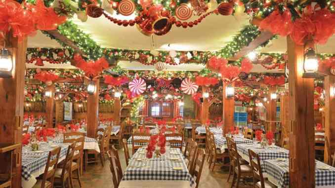 augus barn christmas dining room