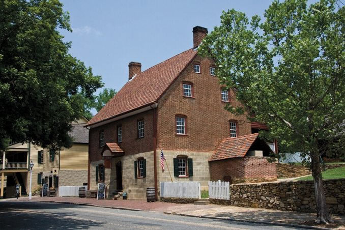One of the many historic buildings in the Moravian settlement of Old Salem.