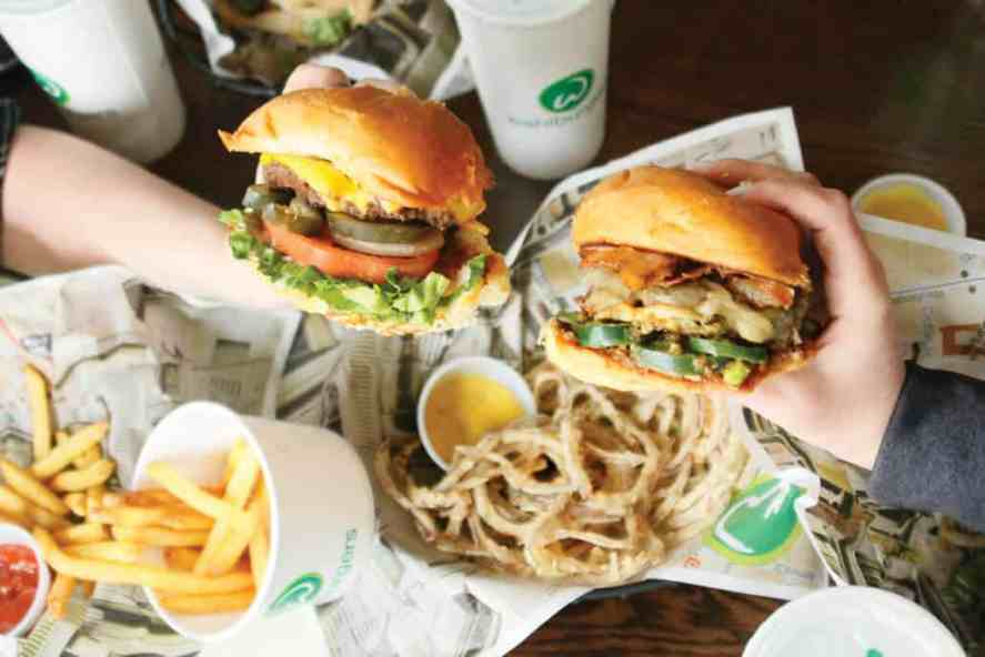 A couple of Wahlburger's burgers