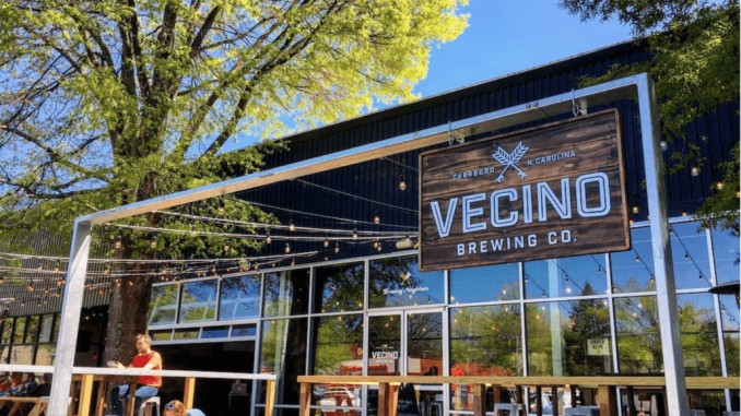Vecino Brewing Company in Chapel Hill.