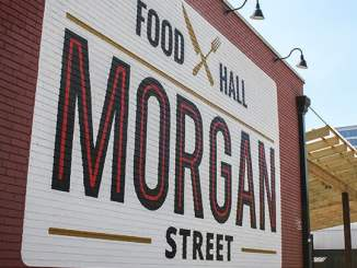 Outside the Morgan Street Food Hall