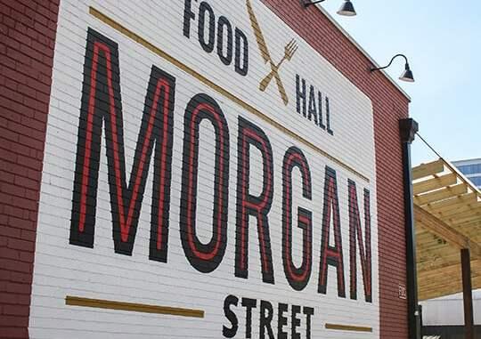 Outside the Morgan Street Food Hall
