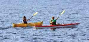 Kayaking in the Neuse River at Lou Mac Park