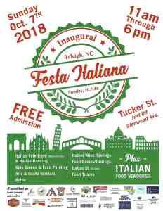 Festa Italiana Raleigh @ Lucky B's Around the Corner | Raleigh | North Carolina | United States