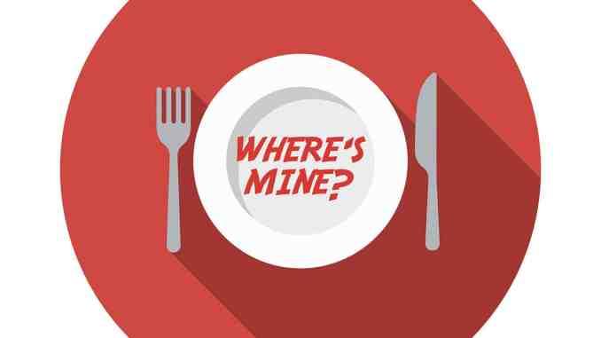 """""""Where's Mine"""" graphic"""