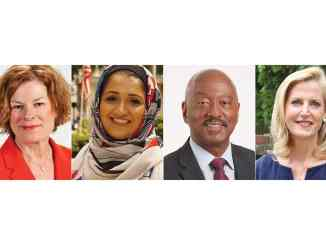 2019 Mayoral Candidates (From Left: Mary-Ann Baldwin, Zainab Baloch, Charles Francis and Caroline Sullivan)
