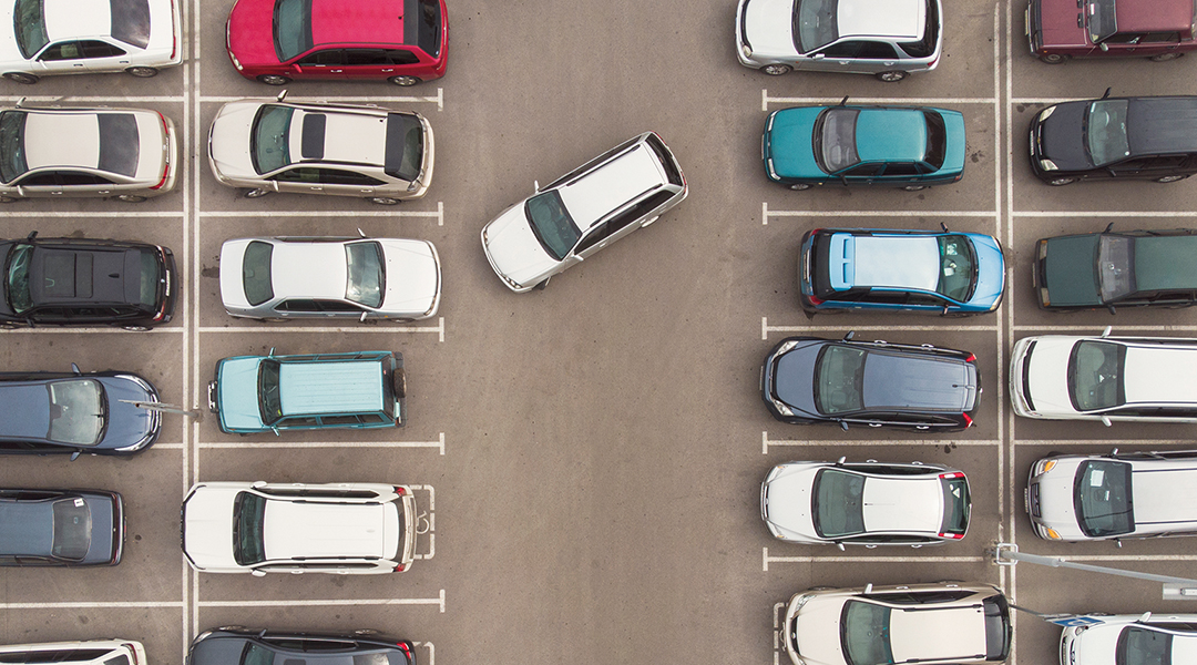 Irregularity in Raleigh parking spots.