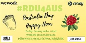 #RDU4AUS - Australia Day Happy Hour @ WeWork at One Glenwood (5th Floor) | Raleigh | North Carolina | United States