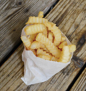 Crinkle-Cut French Fries at Snoopy's