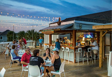 Jinks Creek Waterfront Grille Patio and Outdoor Bar at Ocean Isle