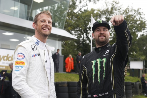 F1 stars Button and Coulthard test WorldRX Supercars