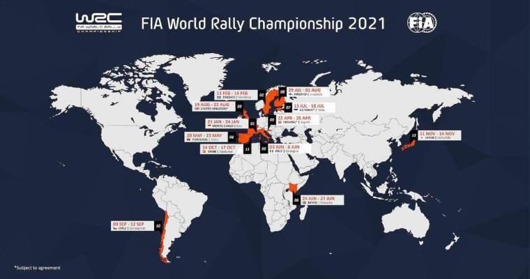 2021 WRC CALENDAR