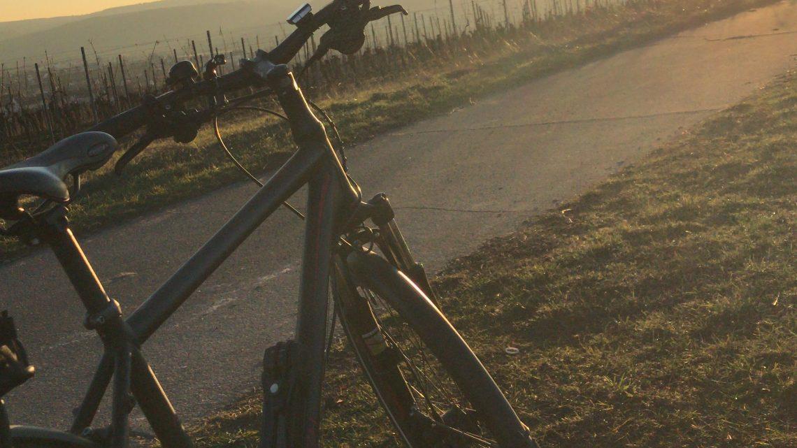 Fahrradfahren im Februar