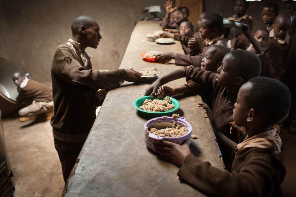 School meals, Marsabit, Kenya.