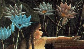 Rousseau - detail of the woman from The Dream