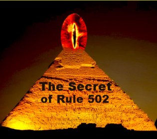 Pyramid at Night with the All Seeing Eye branded with the latest nonsense
