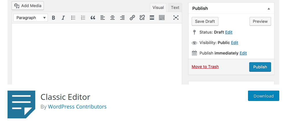 """How to switch back to the """"basic"""" WordPress editor"""