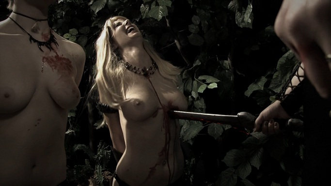 Female torturing naked male 2