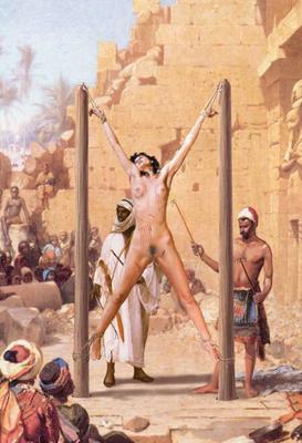 nude women on torture rack