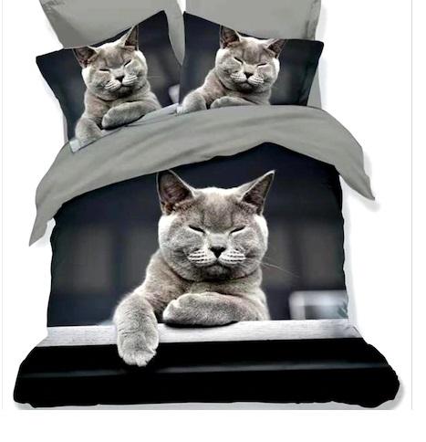 Lenjerie de pat Finet 3D 6 piese , pisica