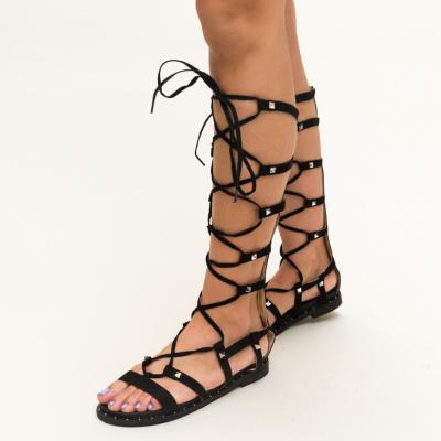 Sandale negre fara toc