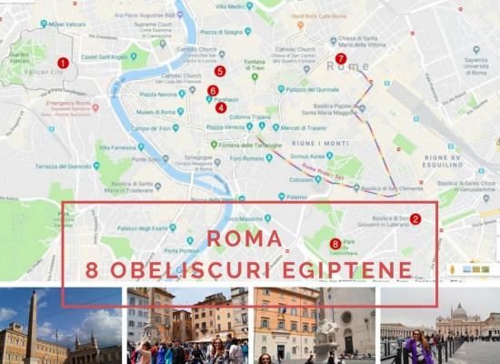 ROMA 8 obeliscuri egiptene