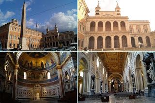 Imagini ale Arhibasilicei San Giovanni in Laterano, interior si exterior