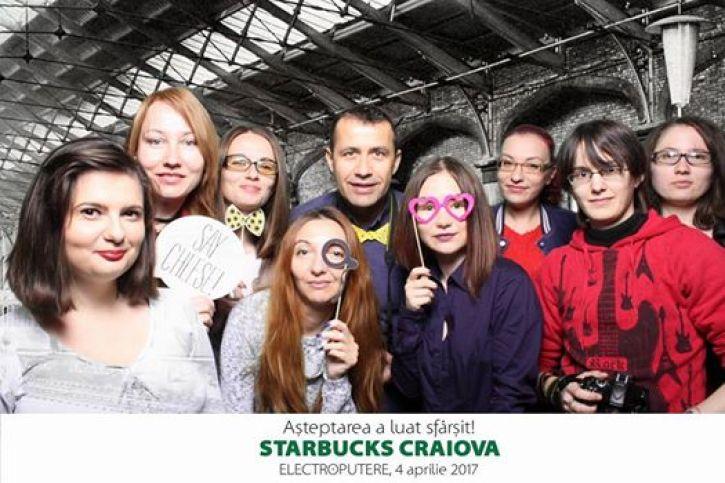 Degustare de cafea Sumatra la deschiderea Starbucks Electroputere Mall Craiova