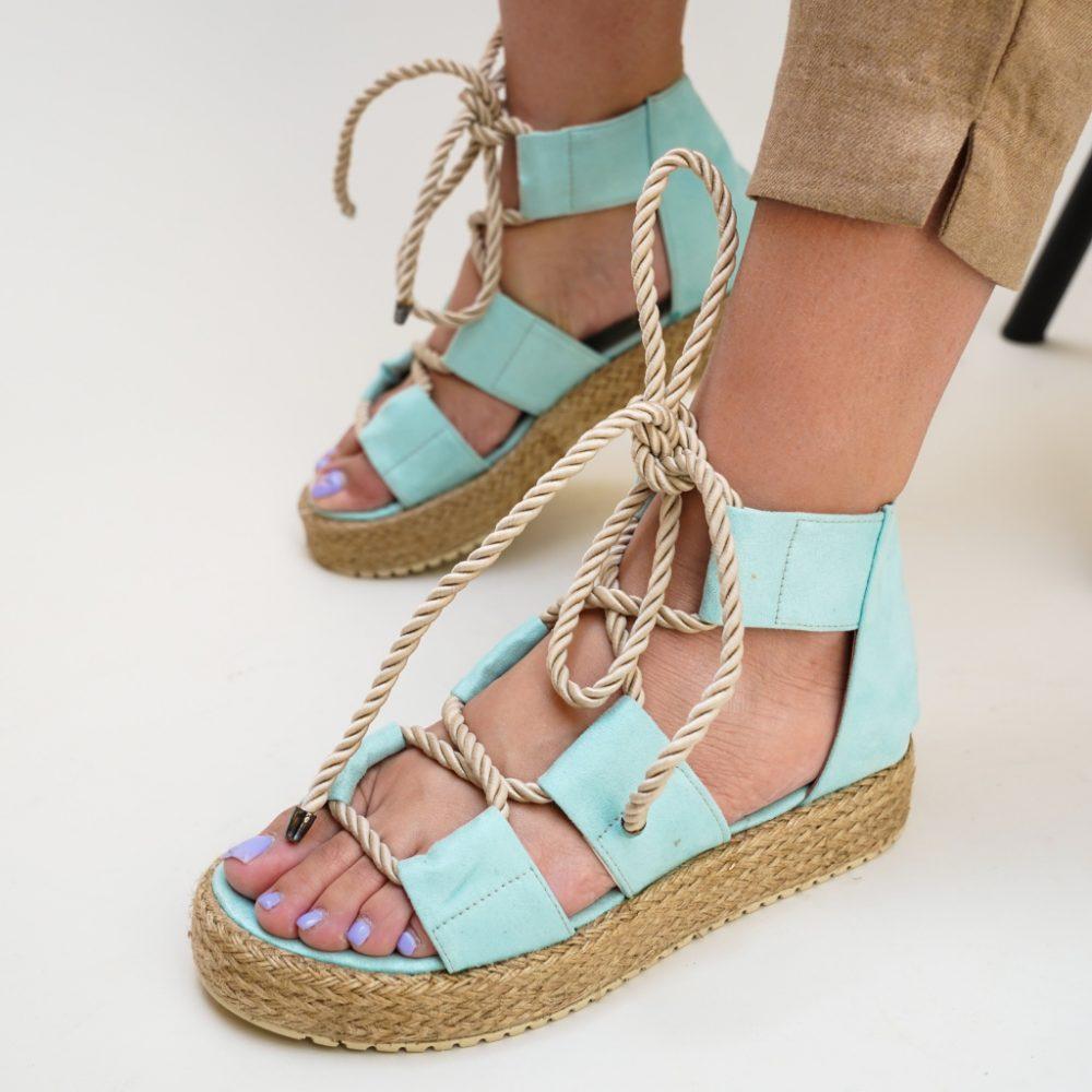 Sandale gladiator Nataly Albastre