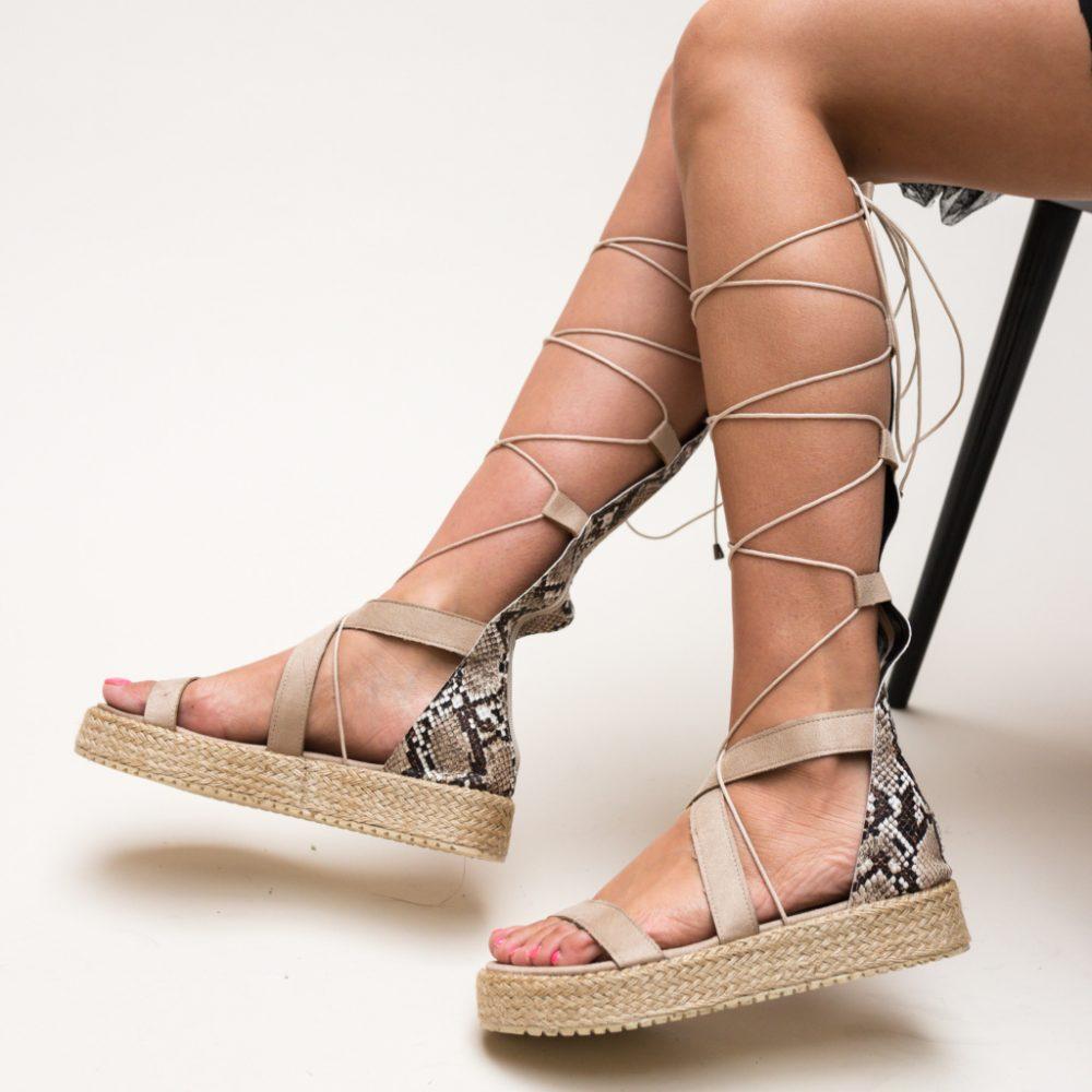 Sandale gladiator Deziren Bej