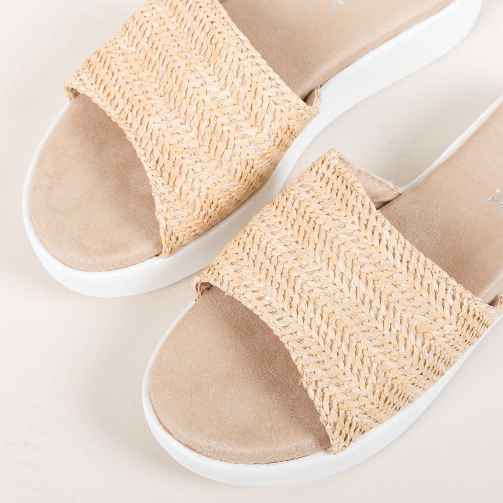 Papuci Fino Bej