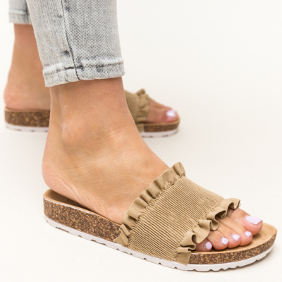 Papuci Vivion Bej