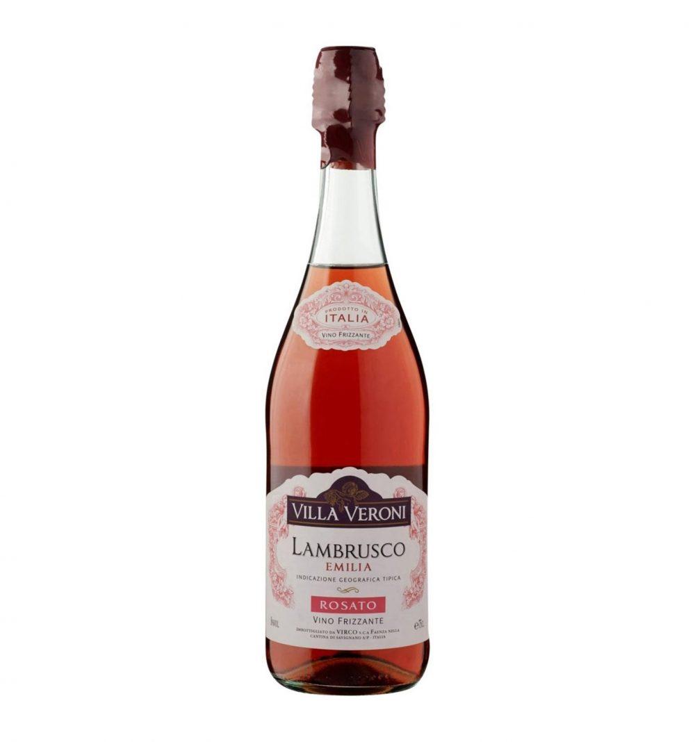 Vin frizzante Lambrusco, Villa Veroni Emilia, 0.75L, 8% alc., Italia