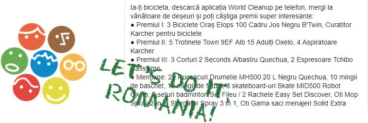 Let's do it, Romania! Hai sa biciclim si sa curatam tara de deseuri!