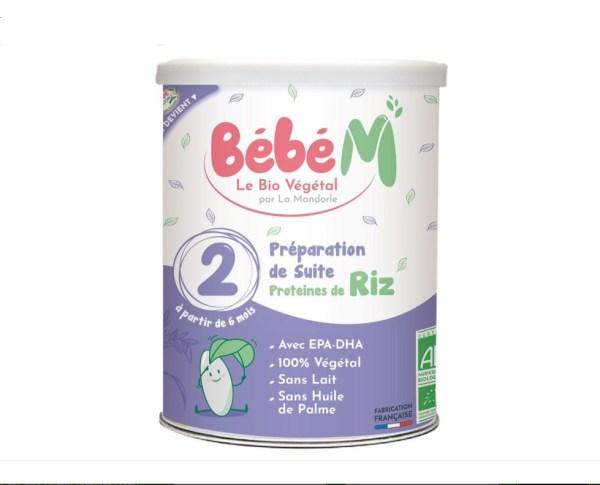 Formula 2 Lapte Praf Vegetal pentru Bebelusi - Bébé MANDORLE de la 6 luni 800 grame