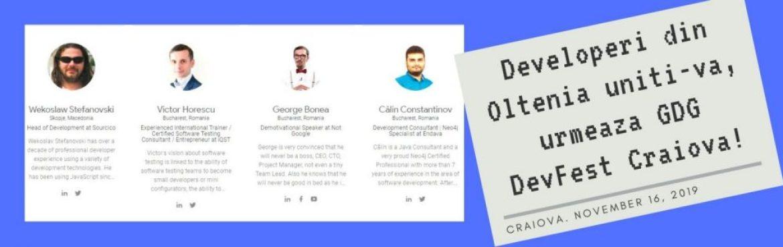 Developeri din Oltenia uniti-va, urmeaza GDG DevFest Craiova!