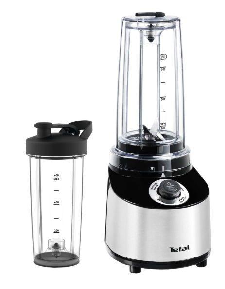 Mini-blender FreshBoost, Tefal, BL181D31, 800 W, 4 Lame, 0.75 L, 4 viteze, Negru/Gri
