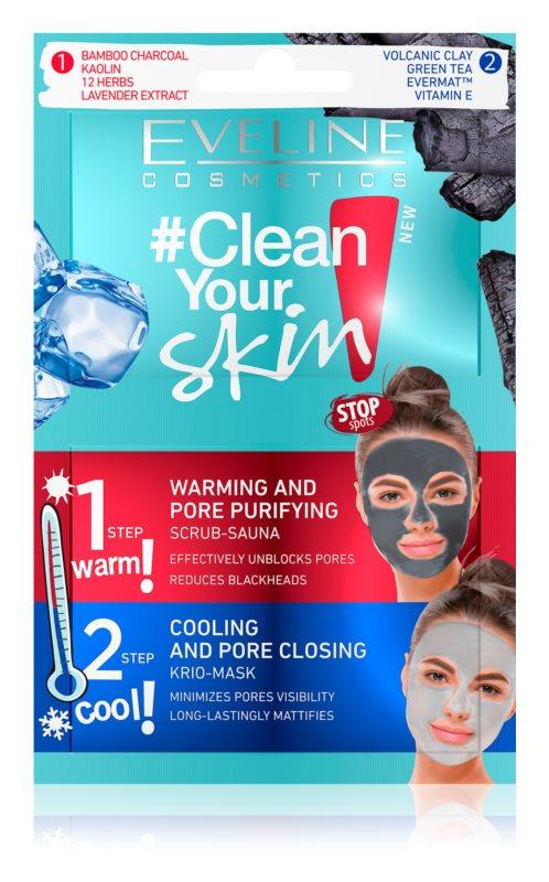 Eveline Cosmetics #Clean Your Skin masca pentru curatare profunda 2 in 1