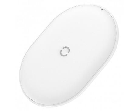Incarcator Premium De Birou Wireless Baseus Cobble Qi 15w + Usb-Usb Type-C Cablu 1m, Alb - Wxys-02