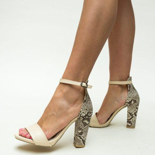 Sandale cu toc Defne Nude
