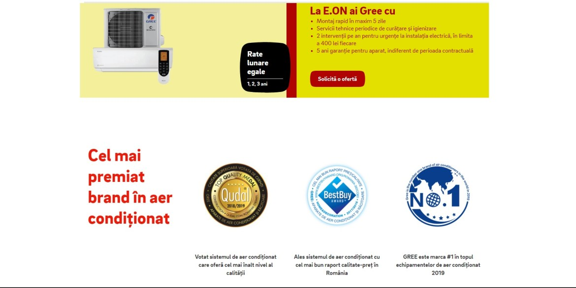 E.ON cel mai premiat brand in aer conditionat