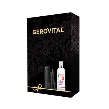 Casetă Gerovital H3 Evolution + Beauty Apă micelară cu Acid Hialuronic + Mascara Devilash + Creion dermatograf negru