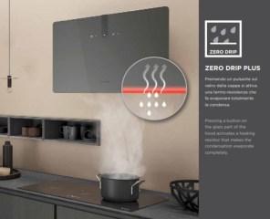 Sistemele Faber Zero Drip si Zero Drip Plus opresc condensul primul colectandu-l si impiedicandu-l astfel sa cada pe plita, iar cel de-al doilea duce la evaporare datorita contactului cu suprafetele reincalzite