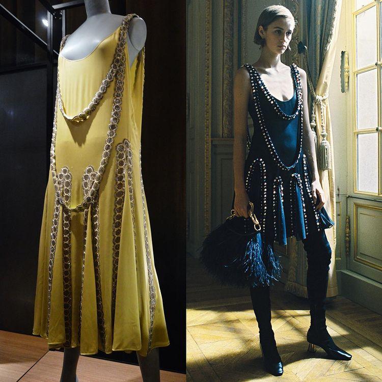 "rochia vintage ""Lesbos"" din 1925 reactualizata de Bruno Sialelli de la Lanvin"