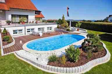 Piscine de calitate germana pentru o vacanta de vis chiar la tine acasa ! Piscină Ovală cu Structură Metalică – Hobby Pool Toscana – 5,25 x 3,20 x 1,5 m