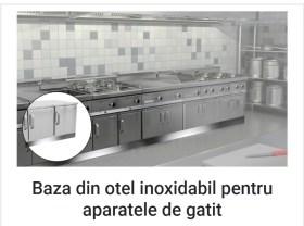 5 echipamente de bucatarie profesionale fara de care nu mi-as imagina restaurantul meu- Baza de otel noxidabil pentru aparatele de gatit Lorenzo