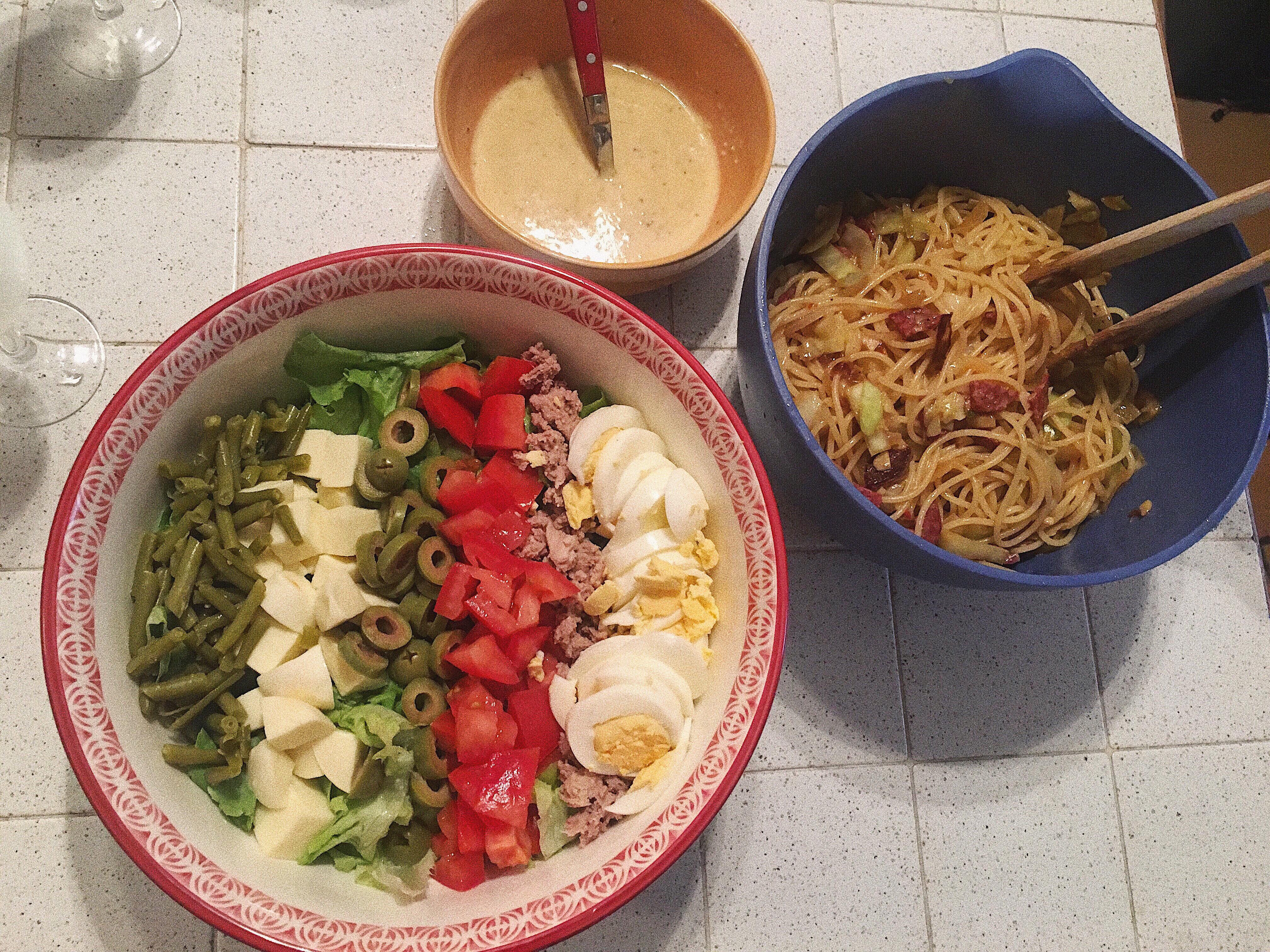 La salade niçoise.(ニース風サラダ)
